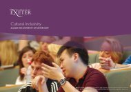 Cultural Inclusivity 2011 - Academic Services - University of Exeter
