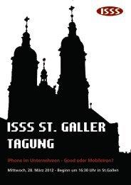 Programmflyer St. Galler Tagung 2012 - ISSS