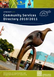 2010/2011 Community Services Directory - Upper Hutt City Council