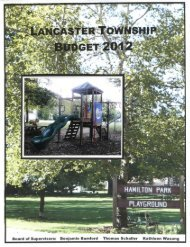 Proposed Budget - Lancaster Township
