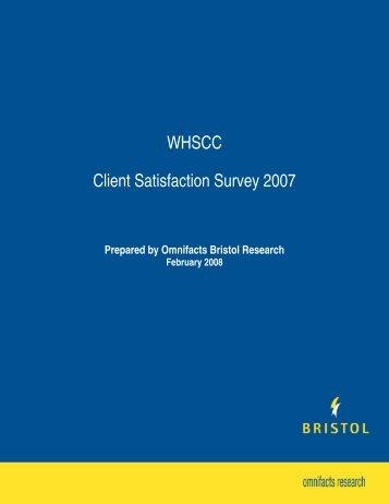 WHSCC Client Satisfaction Survey 2007 - WorkSafeNB