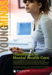 transitions in Mental health Care - National Mental Health ...