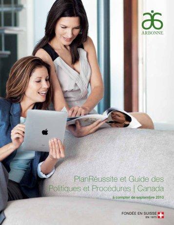 PlanRéussite et Guide des Politiques et Procédures ... - Arbonne