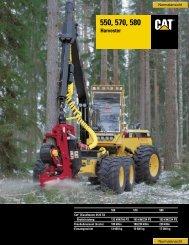 Harvester 550, 570 und 580 - Lectura SPECS