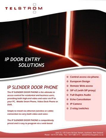 ip slender door phone - Hi-Tech Supplies