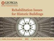 Rehabilitation Issues - Historic Savannah Foundation