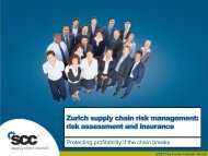 Zurich supply chain risk management: risk assessment and insurance