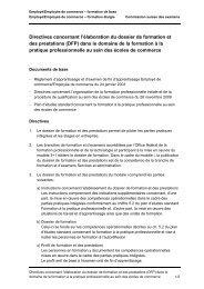 Directives concernant l'élaboration du dossier de formation et des ...