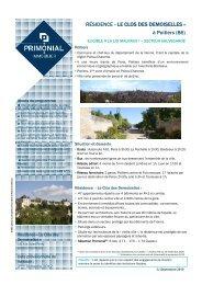 RÉSIDENCE « LE CLOS DES DEMOISELLES - Primonial Immobilier