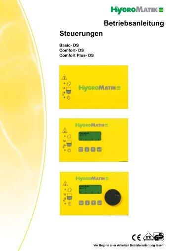 DS Steuerungen Betriebsanleitung - HygroMatik