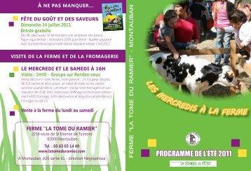 PROGRAMME DE L'ÉTÉ 2011 L es mercredis à ... - Montauban.com