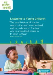 Listening to Young Children - Northamptonshire County Council