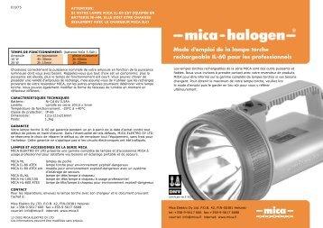 Mode d'emploi de la lampe torche rechargeable IL-60 pour les ...