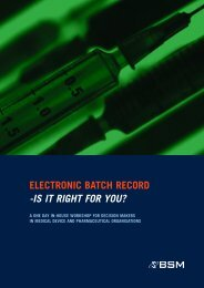 ELECTRONIC BATCH RECORD -IS IT RIGHT FOR YOU?