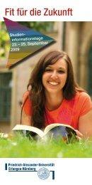 Fit für die Zukunft - Naturwissenschaftliche Fakultät der FAU ...