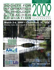 March 2-6, 2009 • Charleston, SC, USA - Association for the ...