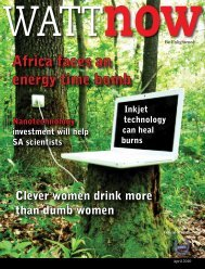 download a PDF of the full April 2010 issue - Wattnow