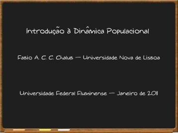 Introduc¸˜ao `a Dinâmica Populacional - Professores da UFF