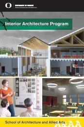 Interior Architecture Program Viewbook - Department of Architecture ...
