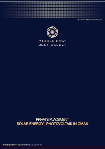 private placement solar energy | photovoltaik in oman - MEBS GmbH