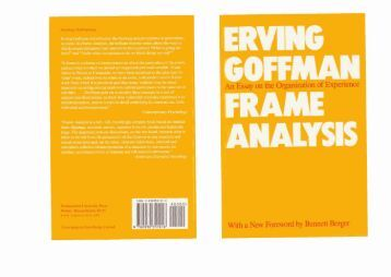 stigma essays in spoiled identity erving goffman This free sociology essay on essay: erving goffman's stigma and the presentation of self in everyday life is perfect for sociology students to use as an example.