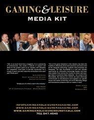 G&L Media Kit - Gaming & Leisure Magazine