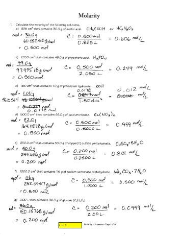 Worksheets Molarity Pogil Answer Key molarity jpgquality80