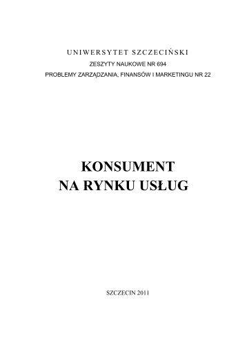 Zeszyt naukowy - całość - Wydział Zarządzania i Ekonomiki Usług