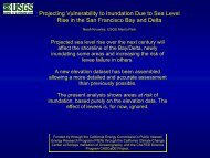 Projecting Vulnerability to Inundation Due to Sea Level Rise in the ...