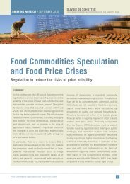 Food Commodities Speculation and Food Price Crises - Office of the ...