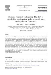 Past and future of backcasting: The shift to ... - Transitiepraktijk