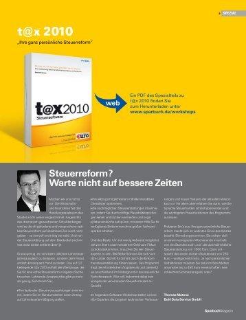 Steuerreform? - Buhl Replication Service GmbH