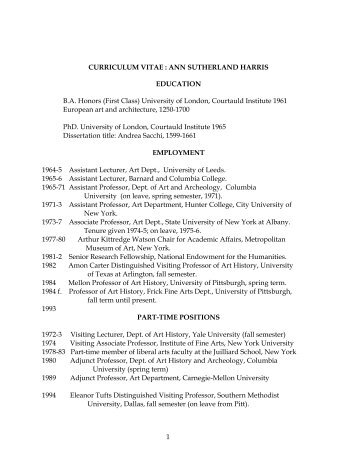 Download CV - University of Pittsburgh History of Art and Architecture