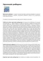 Ogrzewanie podÃ…Â'ogowe - Ogrzewnictwo