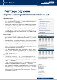 16/4 Ny renteprognose - Danske Analyse - Danske Bank