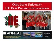 The Ohio State University - Institute of Industrial Engineers