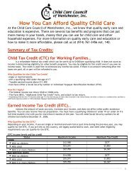 How You Can Afford Quality Child Care - Child Care Council of ...