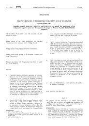 Directive 2007/63/EC - EUR-Lex