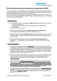 Die Novellierung des Bundesdatenschutzgesetzes BDSG