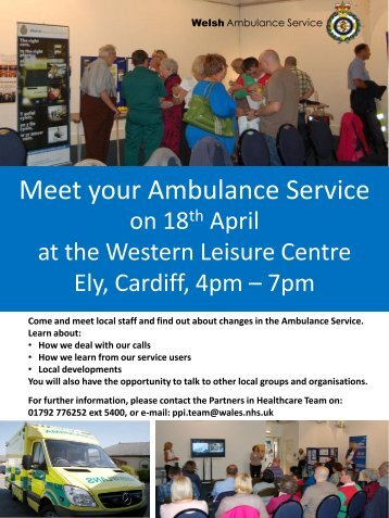 Meet your Ambulance Service - NHS Direct Wales