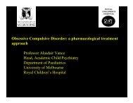 Obsessive Compulsive Disorder - The Royal Children's Hospital
