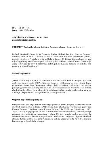 Adnan Solakovic.pdf - Skupština Kantona Sarajevo - Vlada Kantona ...