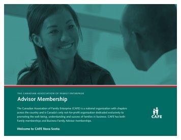 Advisor Membership - Canadian Association of Family Enterprise