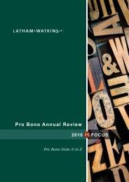 Pro Bono Annual Review - Latham & Watkins