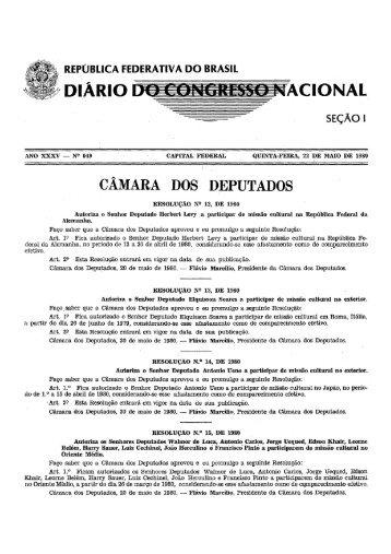 república federativa do brasil diario acional - Câmara dos Deputados