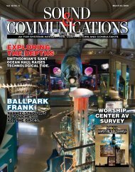 March 2009 - Sound & Communications