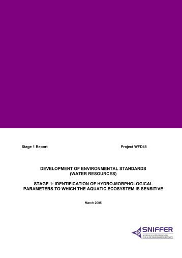 development of environmental standards (water resources)