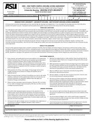 2009 2010 TEMPE CAMPUS HOUSING LICENSE AGREEMENT For