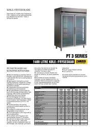 1400 LITRE KØLE-/FRYSESKAB - L'EASY Erhverv