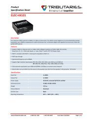 ELEC-‐HX101 - Tributaries Cable